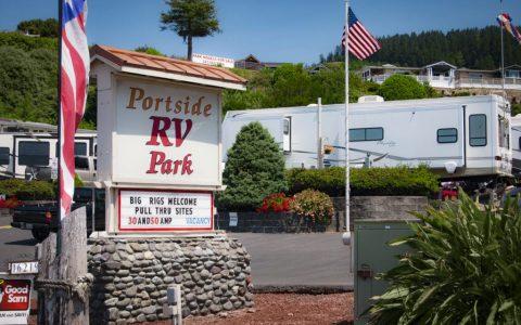 Portside RV Park Entrance